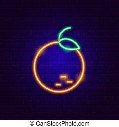 Orange Neon Sign