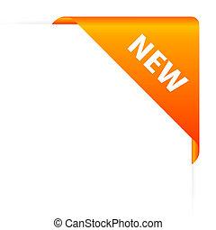 orange, nouveau, en-tête
