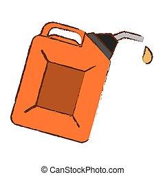 Orange Nozzle giving drop oil