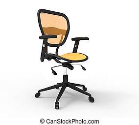 Orange Office Chair Studio Shot
