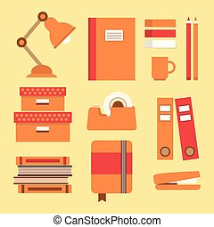 Orange office supplies & stationery