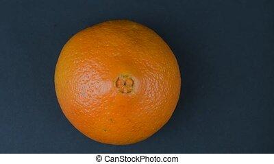 Orange on a black background. 4K resolution