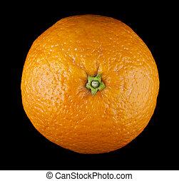 orange on a black background