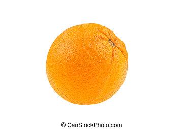 orange on a white background, isolated