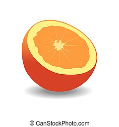orange on a white background. vector graphics