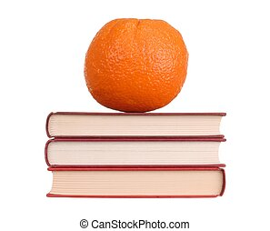 Orange on Books