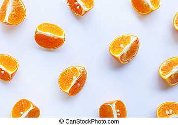 Orange on white background for background.