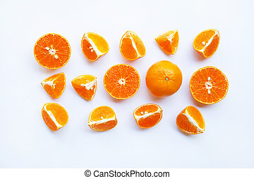 Orange on white background.