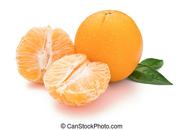 Orange on white with clipping path