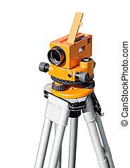 Orange optical level on white