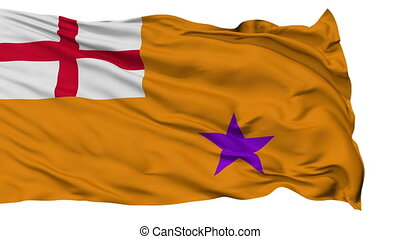 Orange Order Religious Isolated Waving Flag