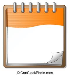 Orange Organizer Day Planner - An orange organizer with a...