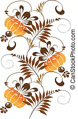 orange ornament on a white background
