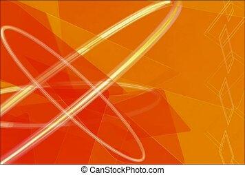 orange, outline, design