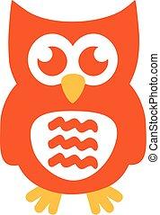 Orange owl with funny ears