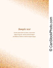 Orange page corner design template