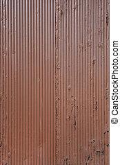 Orange Painted Corrugated Metal Sheet
