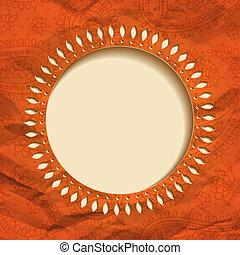 Orange paper frame