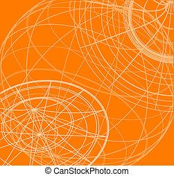 orange, papier peint