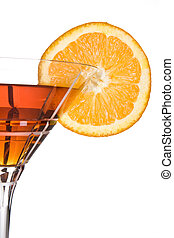 Orange party - Party drink decorated with a slice of orange