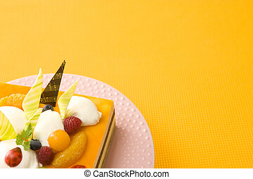 Orange passion mousse cake