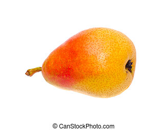 Orange pear over white background