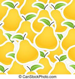 Orange pear seamless background