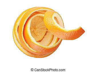 orange peel ? isolated on white background