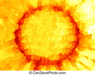 orange, peint, arrière-plan soleil