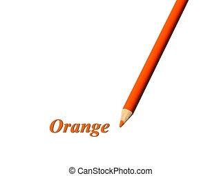 Orange Pencil - Closeup of an orange colored pencil over...