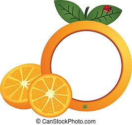 Orange Photo Frame