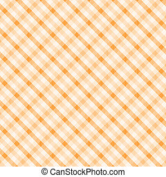 Orange plaid pattern for background.