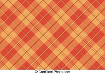 Orange plaid tartan seamless pattern