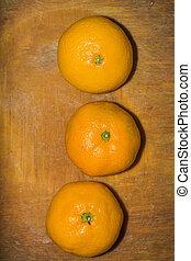orange, planche découper