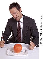 orange, plaque, homme