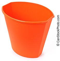 Orange Plastic Garbage Bin