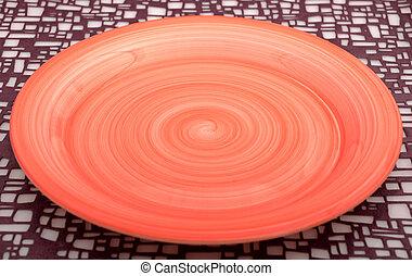 orange, platte, leerer , hintergrund, textured