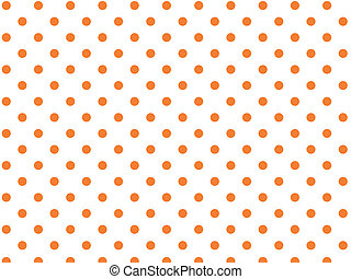 orange, points, vecteur, polka, eps8