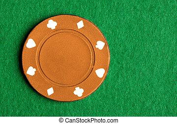 Orange Poker Chip - A $1000 orange poker chip