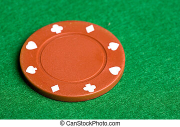 Orange Poker Chip