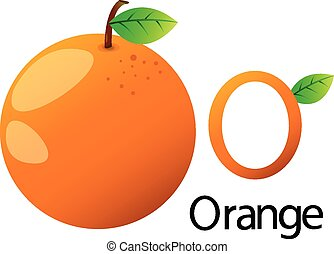 orange, police, illustrateur, o