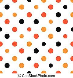 Orange Polka dot White Background