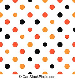 Orange Polka dot White Background