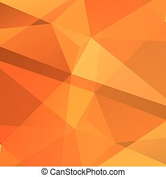 orange polygonal background - Polygonal abstract background...