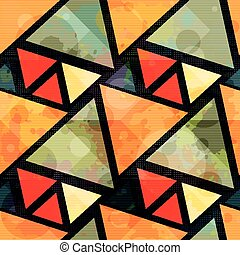 orange polygons grunge texture seamless pattern
