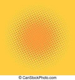 Orange pop art comic background