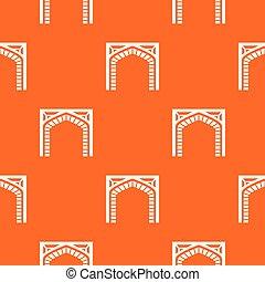 orange, portail, vecteur, modèle