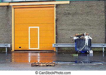 orange, porte