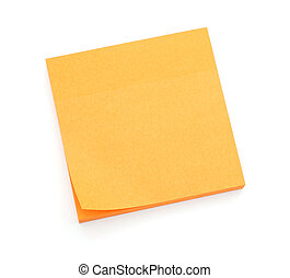 Orange post-it notes - Stack of orange post-it notes...