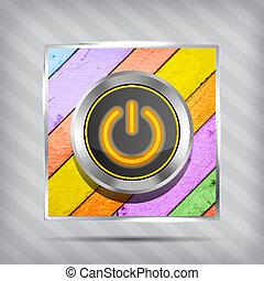 orange power button icon
